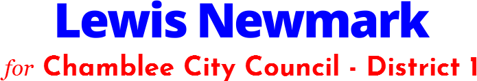 Lewis Newmark Chamblee City Council - District 1