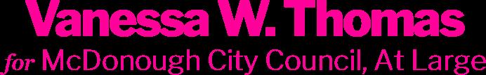 Vanessa W. Thomas McDonough City Council, At Large
