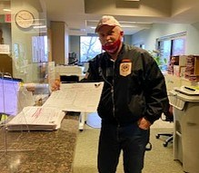 Candidate Don Pridemore turns in Nomination Papers